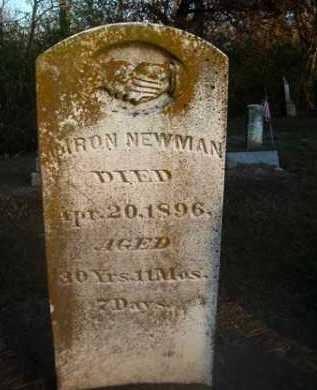 NEWMAN, AARON - Scott County, Illinois | AARON NEWMAN - Illinois Gravestone Photos