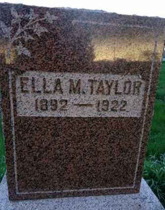 TAYLOR, ELLA M. - Scott County, Illinois | ELLA M. TAYLOR - Illinois Gravestone Photos