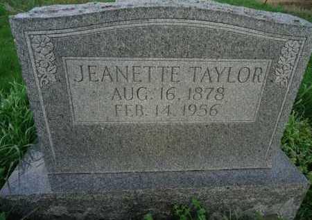 TAYLOR, JEANETTE - Scott County, Illinois   JEANETTE TAYLOR - Illinois Gravestone Photos