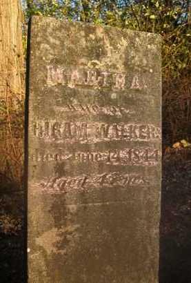 WALKER, MARTHA - Scott County, Illinois   MARTHA WALKER - Illinois Gravestone Photos