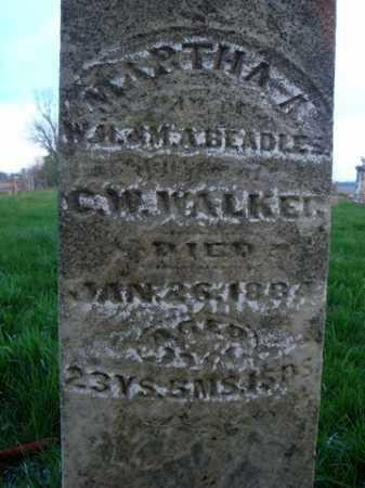 BEADLES WALKER, MARTHA A. - Scott County, Illinois | MARTHA A. BEADLES WALKER - Illinois Gravestone Photos
