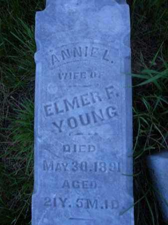 YOUNG, ANNIE L. - Scott County, Illinois | ANNIE L. YOUNG - Illinois Gravestone Photos