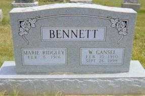 RIDGLEY BENNETT, MARIE - Shelby County, Illinois | MARIE RIDGLEY BENNETT - Illinois Gravestone Photos
