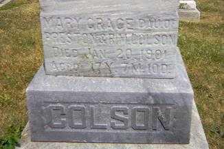 COLSON, MARY GRACE - Shelby County, Illinois   MARY GRACE COLSON - Illinois Gravestone Photos