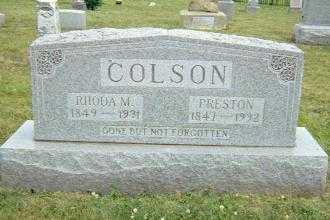 COLSON, RHODA MARINDA - Shelby County, Illinois | RHODA MARINDA COLSON - Illinois Gravestone Photos