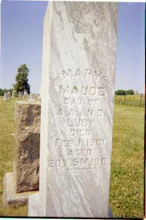 LUBY, MARY MAUDE - Shelby County, Illinois | MARY MAUDE LUBY - Illinois Gravestone Photos