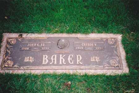 BAKER SR., JOHN E.& CARRIE V. - St. Clair County, Illinois | JOHN E.& CARRIE V. BAKER SR. - Illinois Gravestone Photos