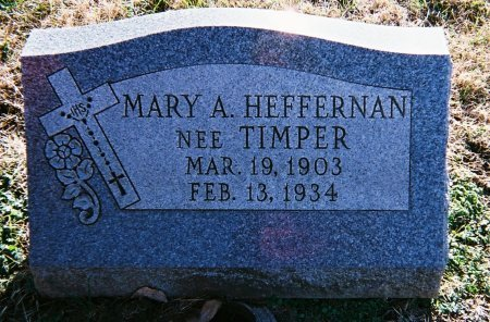 HEFFERNAN, MARY ANNA JOSEPHINA - St. Clair County, Illinois | MARY ANNA JOSEPHINA HEFFERNAN - Illinois Gravestone Photos