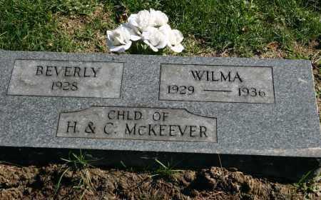 MCKEEVER, WILMA - Stark County, Illinois | WILMA MCKEEVER - Illinois Gravestone Photos