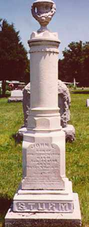 STURM, JOHN L. - Stark County, Illinois   JOHN L. STURM - Illinois Gravestone Photos
