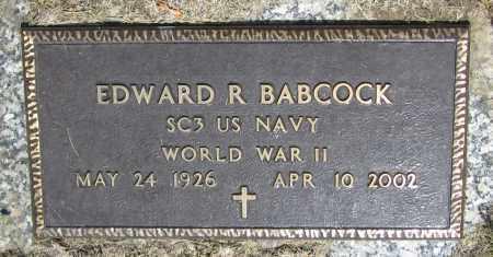 BABCOCK, EDWARD R. - Stephenson County, Illinois | EDWARD R. BABCOCK - Illinois Gravestone Photos