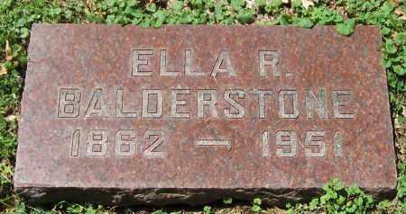 BALDERSTONE, ELLA R. - Stephenson County, Illinois | ELLA R. BALDERSTONE - Illinois Gravestone Photos