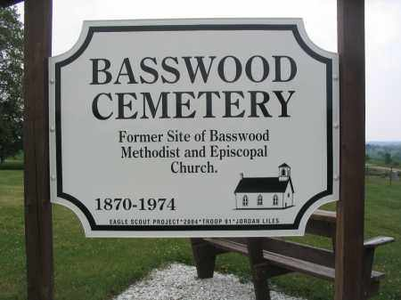 BASSWOOD CEMETERY, SIGN - Stephenson County, Illinois | SIGN BASSWOOD CEMETERY - Illinois Gravestone Photos