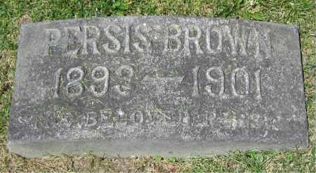 BROWN, PERSIS - Stephenson County, Illinois | PERSIS BROWN - Illinois Gravestone Photos