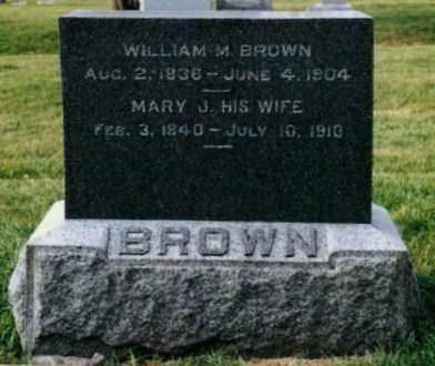BROWN, WILLIAM M - Stephenson County, Illinois | WILLIAM M BROWN - Illinois Gravestone Photos