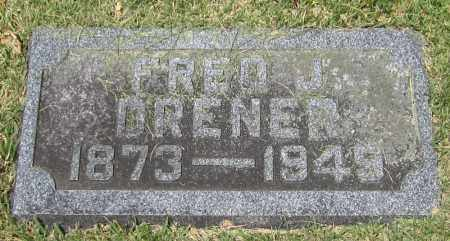 DRENER, FRED J. - Stephenson County, Illinois | FRED J. DRENER - Illinois Gravestone Photos