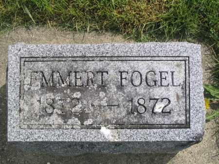 FOGEL, EMMERT - Stephenson County, Illinois   EMMERT FOGEL - Illinois Gravestone Photos