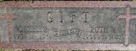 GIFT, C. KEELER - Stephenson County, Illinois   C. KEELER GIFT - Illinois Gravestone Photos