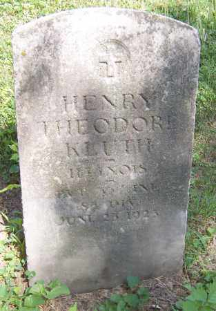KLUTH, HENRY THEODORE - Stephenson County, Illinois | HENRY THEODORE KLUTH - Illinois Gravestone Photos