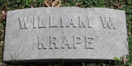 KRAPE, WILLIAM - Stephenson County, Illinois | WILLIAM KRAPE - Illinois Gravestone Photos