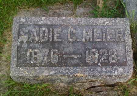 MEIER, SADIE C - Stephenson County, Illinois   SADIE C MEIER - Illinois Gravestone Photos