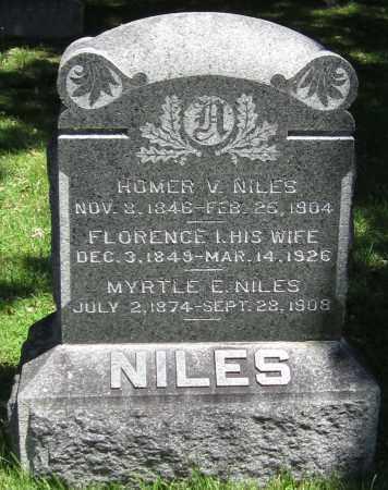 NILES, MYRTLE E. - Stephenson County, Illinois | MYRTLE E. NILES - Illinois Gravestone Photos
