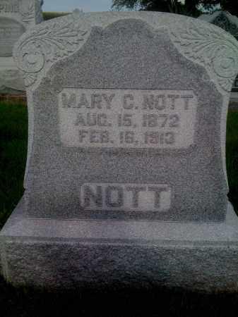 NOTT, MARY C - Stephenson County, Illinois | MARY C NOTT - Illinois Gravestone Photos