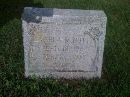 NOTT, VERLA M - Stephenson County, Illinois | VERLA M NOTT - Illinois Gravestone Photos