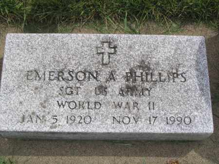PHILLIPS, EMERSON A. - Stephenson County, Illinois | EMERSON A. PHILLIPS - Illinois Gravestone Photos