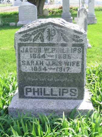 LAUBER PHILLIPS, SARAH JANE - Stephenson County, Illinois | SARAH JANE LAUBER PHILLIPS - Illinois Gravestone Photos