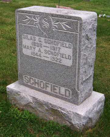 SCHOFIELD, MARY A. - Stephenson County, Illinois | MARY A. SCHOFIELD - Illinois Gravestone Photos