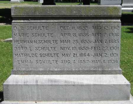 SCHULTE, D. B. - Stephenson County, Illinois | D. B. SCHULTE - Illinois Gravestone Photos
