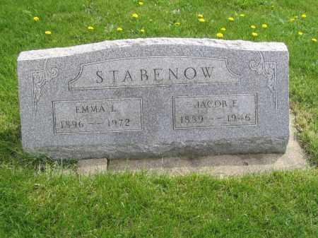 STABENOW, JACOB E. - Stephenson County, Illinois | JACOB E. STABENOW - Illinois Gravestone Photos