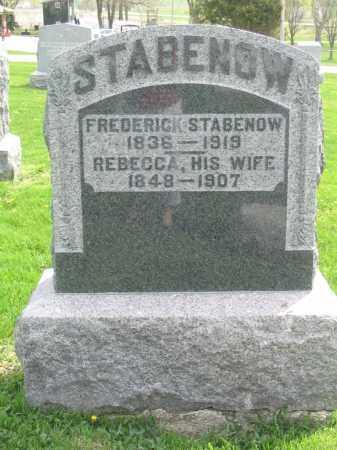 STABENOW, FREDERICK - Stephenson County, Illinois | FREDERICK STABENOW - Illinois Gravestone Photos