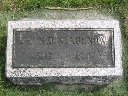 STABENOW, JOHN D. - Stephenson County, Illinois | JOHN D. STABENOW - Illinois Gravestone Photos