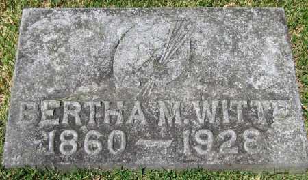 WITTE, BERTHA M. - Stephenson County, Illinois | BERTHA M. WITTE - Illinois Gravestone Photos