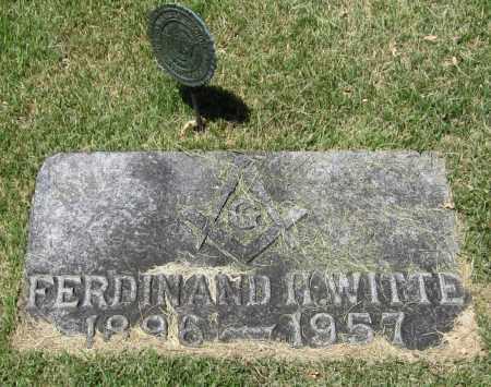 WITTE, FERDINAND H. - Stephenson County, Illinois   FERDINAND H. WITTE - Illinois Gravestone Photos