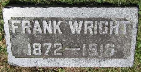 WRIGHT, FRANK - Stephenson County, Illinois | FRANK WRIGHT - Illinois Gravestone Photos