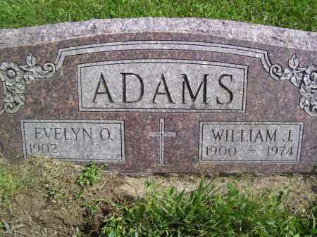 ADAMS, WILLIAM J - Tazewell County, Illinois | WILLIAM J ADAMS - Illinois Gravestone Photos