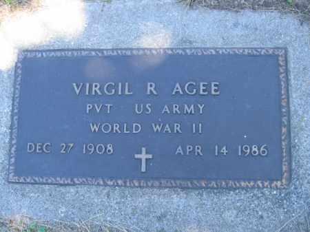 AGEE, VIRGIL R - Tazewell County, Illinois | VIRGIL R AGEE - Illinois Gravestone Photos