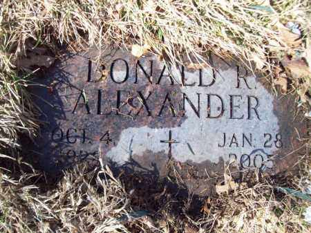 ALEXANDER, DONALD R - Tazewell County, Illinois | DONALD R ALEXANDER - Illinois Gravestone Photos