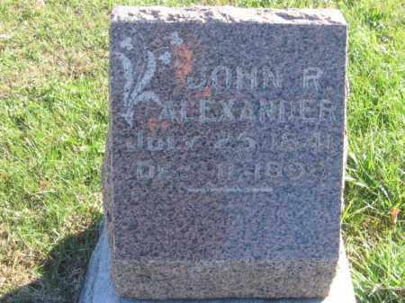 ALEXANDER, JOHN R - Tazewell County, Illinois   JOHN R ALEXANDER - Illinois Gravestone Photos