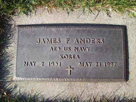 ANDERS, JAMES F - Tazewell County, Illinois | JAMES F ANDERS - Illinois Gravestone Photos