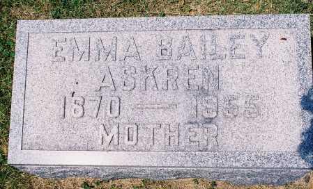 BAILEY ASKREN, EMMA - Tazewell County, Illinois | EMMA BAILEY ASKREN - Illinois Gravestone Photos