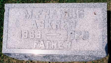 ASKREN, W. FRANCIS - Tazewell County, Illinois | W. FRANCIS ASKREN - Illinois Gravestone Photos