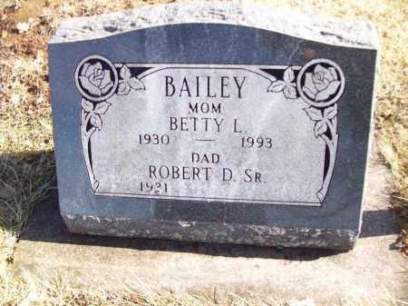 BAILEY, BETTY L - Tazewell County, Illinois | BETTY L BAILEY - Illinois Gravestone Photos