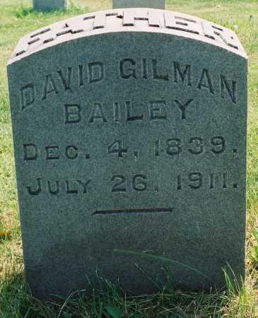 BAILEY, DAVID GILMAN - Tazewell County, Illinois | DAVID GILMAN BAILEY - Illinois Gravestone Photos