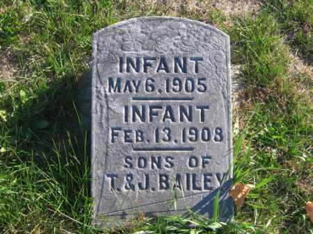 BAILEY, INFANTS - Tazewell County, Illinois   INFANTS BAILEY - Illinois Gravestone Photos
