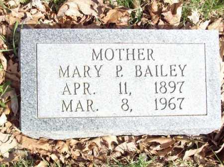 BAILEY, MARY P - Tazewell County, Illinois | MARY P BAILEY - Illinois Gravestone Photos