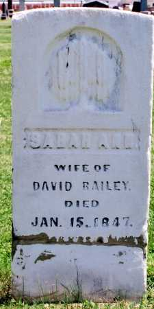 BAILEY, SARAH ANN - Tazewell County, Illinois | SARAH ANN BAILEY - Illinois Gravestone Photos